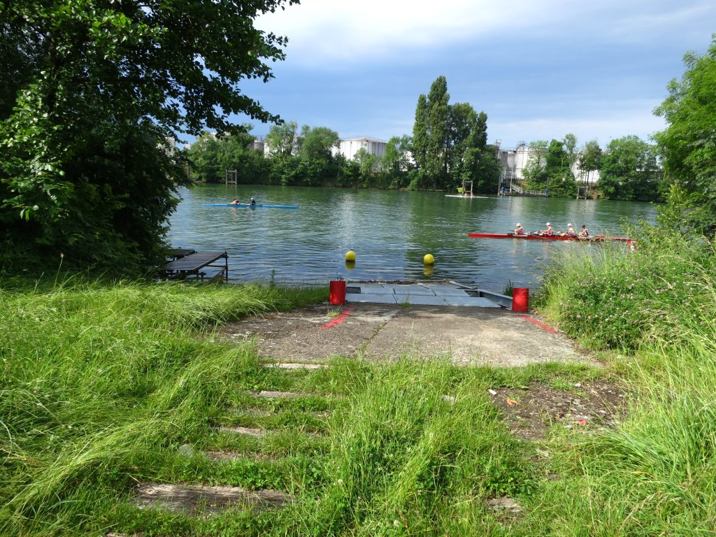cale de mise à l'eau du Yacht Club de Draveil