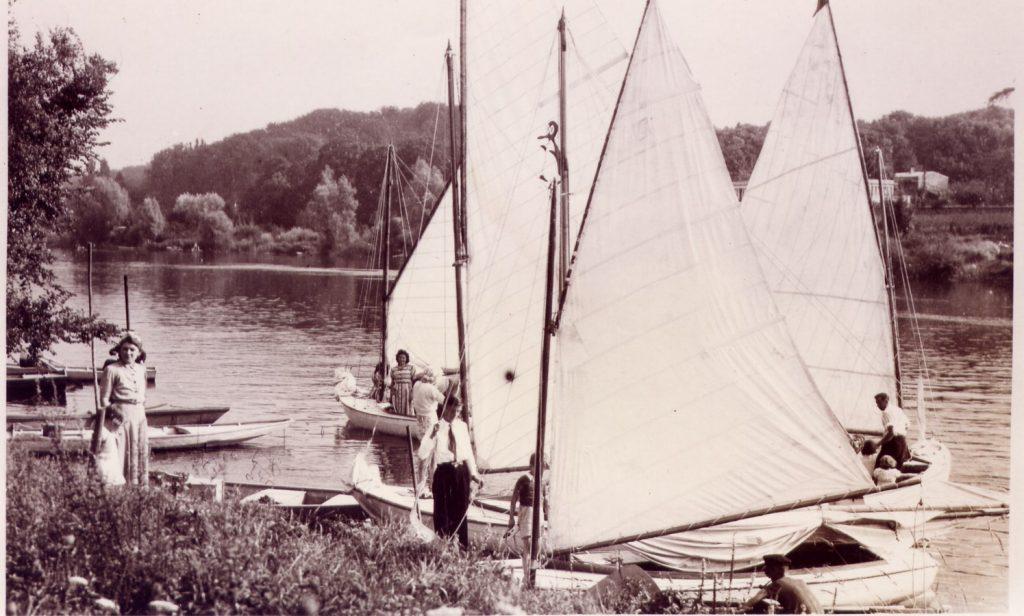 voiliers années 30, yacht club de Draveil