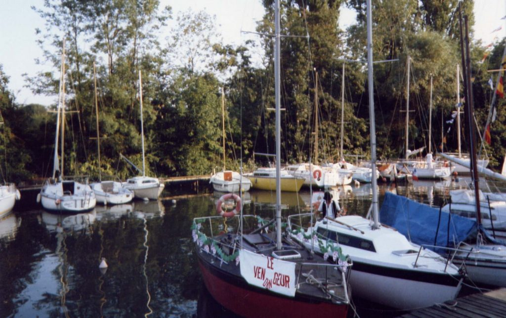 La marina du Yacht Club de Draveil
